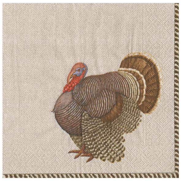 In this Design: Artist, Karen Kluglein, painted this regal Thanksgiving turkey as a celebratory autumn symbol.