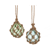 Jute Wrapped Ornament Blue