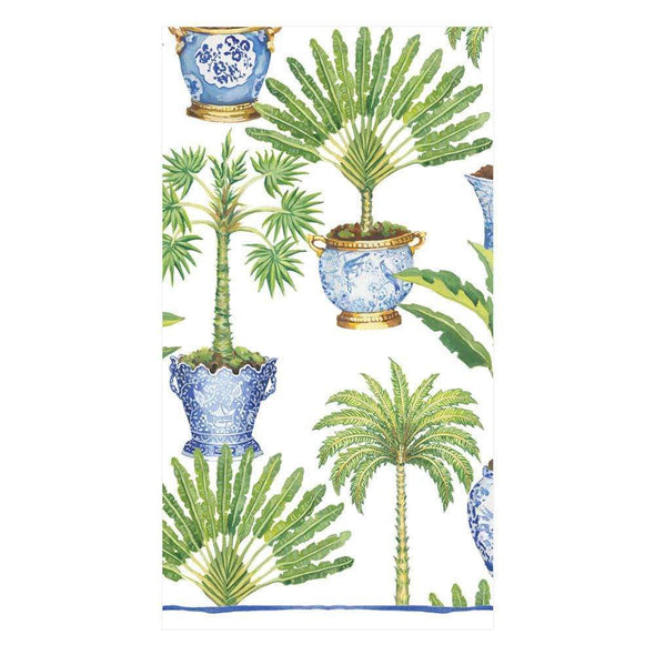 Guest Towel Napkin - Potted Palms White