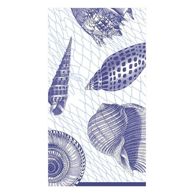 Guest Towel Napkin - Netting And Shells Blue