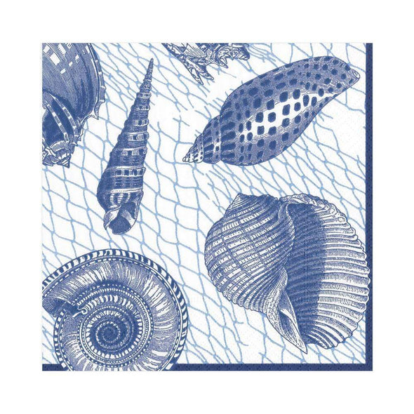 Luncheon Napkin - Netting And Shells Blue