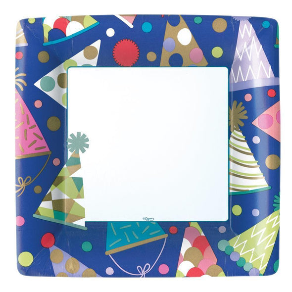 Party Hats Dinner Plates Square