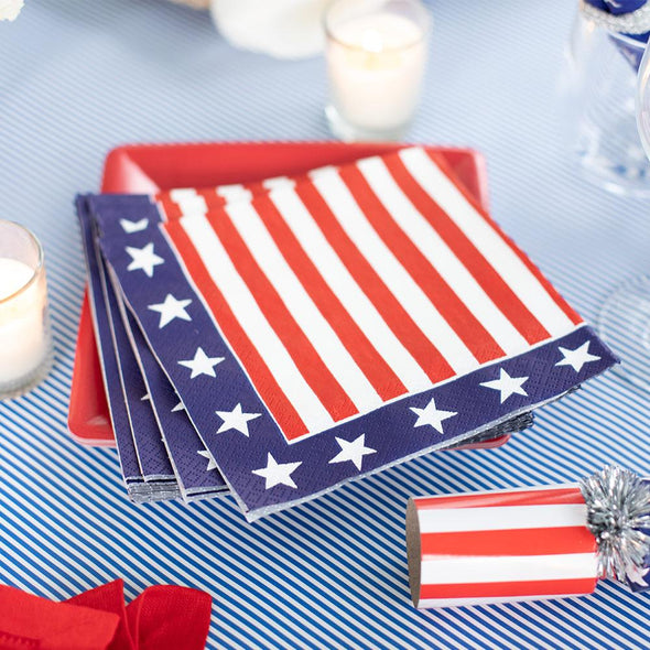 Luncheon Napkin - Red White And Blue