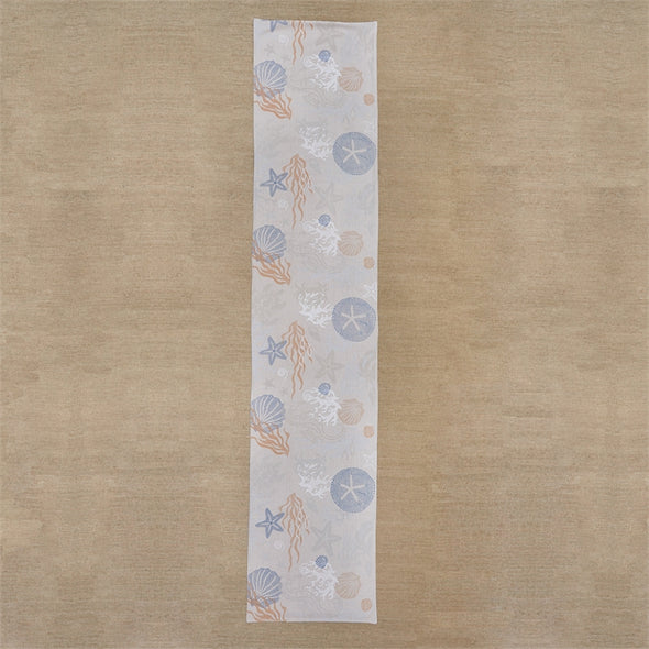 Sea Life Table Runner 72""