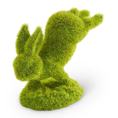 Moss Bunny Standing on Front Feet 5""