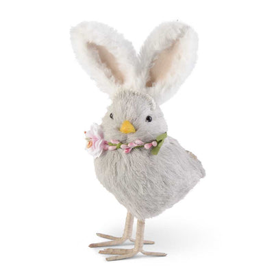 Gray Chick w/Bunny Ears 8.5""