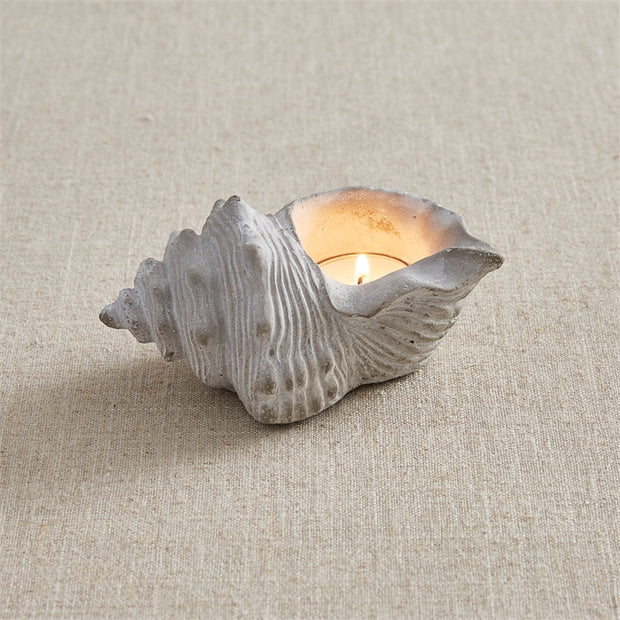 Conch Tealight Holder - Opal and Olive