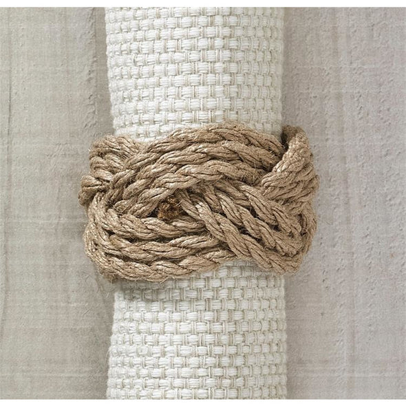Jute Rope Napkin Ring - Opal and Olive