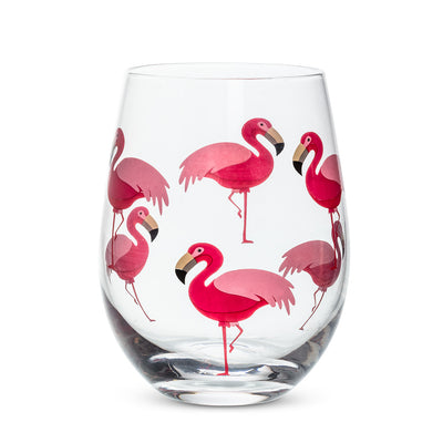 Flamingo Stemless Goblet - Opal and Olive