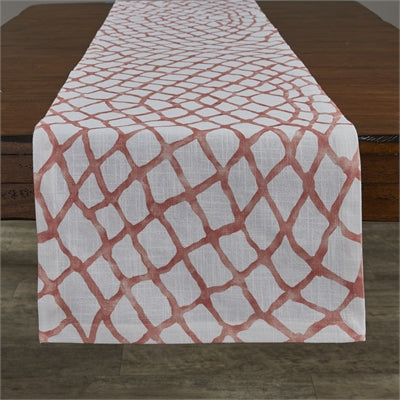 Seaview Coral Table Runner