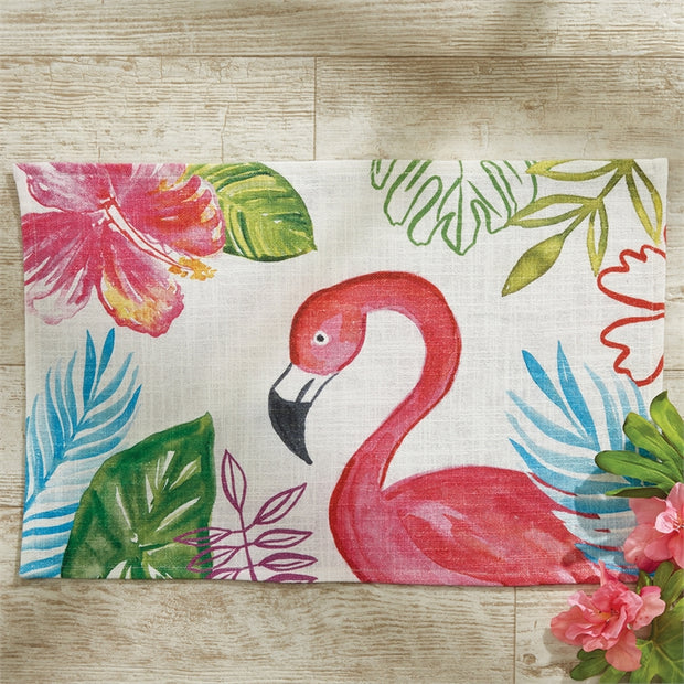 Tropical Paradise Placemat Flamingo