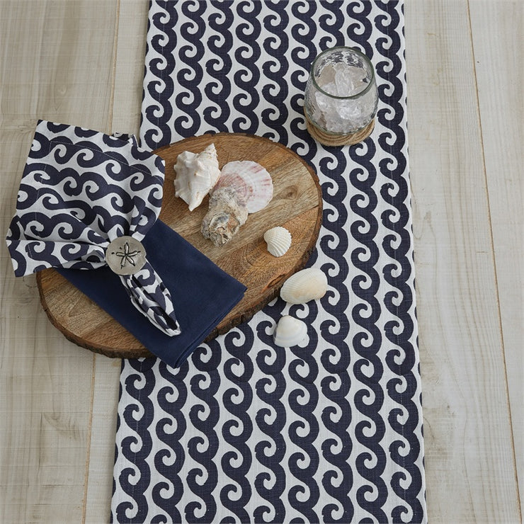 Waves Napkin Navy