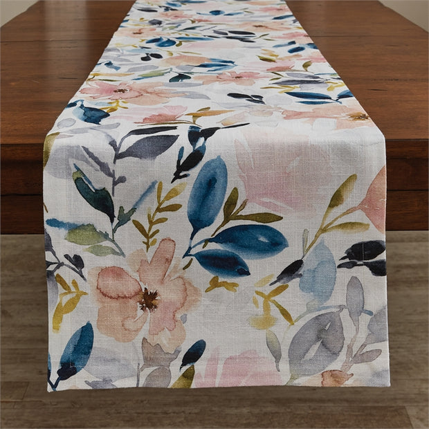 First Blush Table Runner 15X72 - Opal and Olive