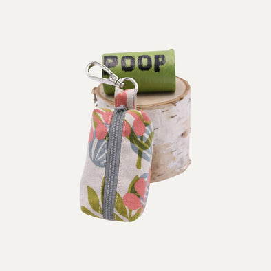 Botanical - Linen Dog Poop Bag Holder
