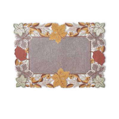 Embroidered Fall Leaves Placemat
