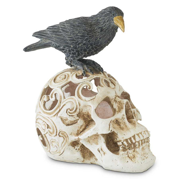 LED Skull w/Perched Crow