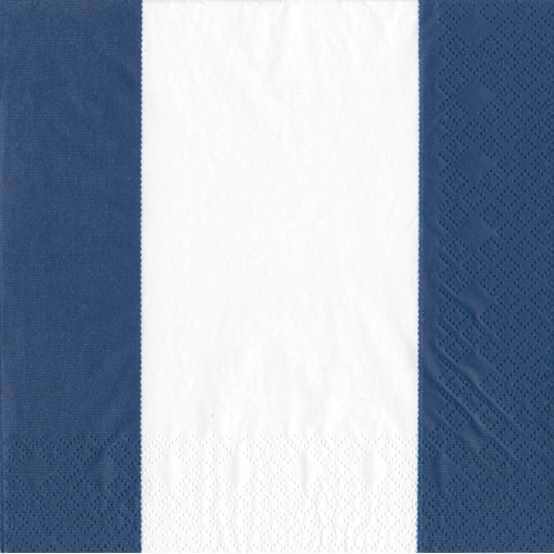 Cocktail Napkin - Bandol Stripe Navy - Opal and Olive
