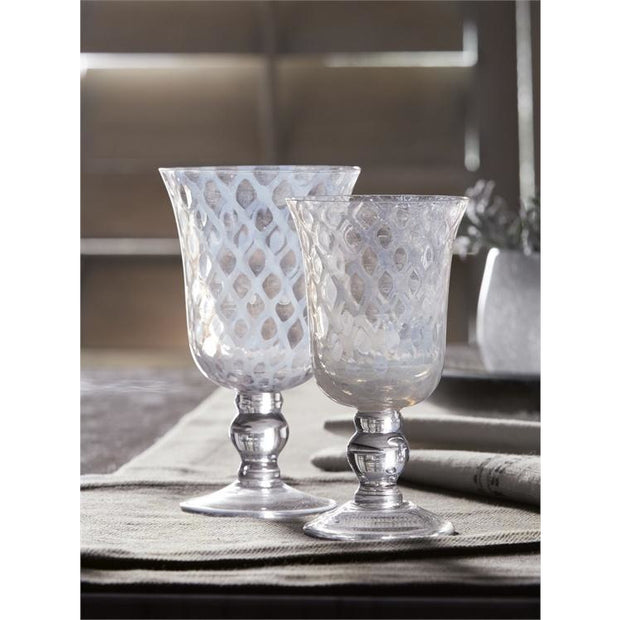 Lattice Goblet - Opal and Olive