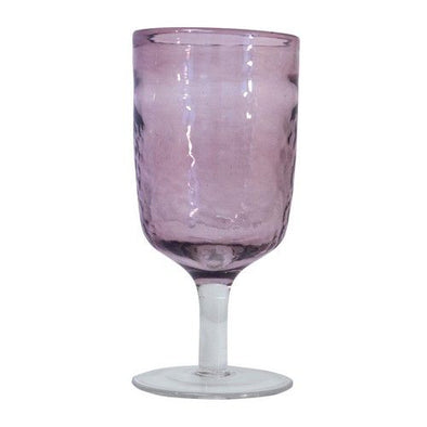 Hammered Goblet Glass - Orchid - Opal and Olive