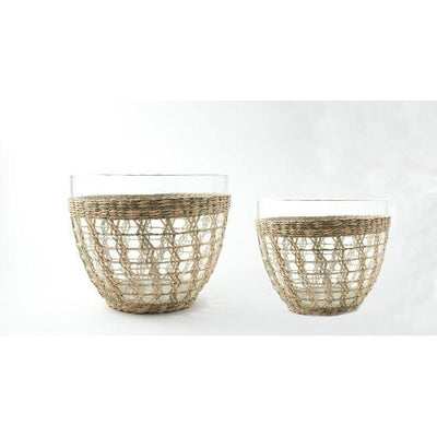 Seagrass Cage Salad Bowl Medium