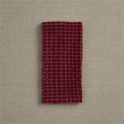 Waffle Weave Towel Red