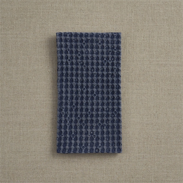 Waffle Weave Towel Navy
