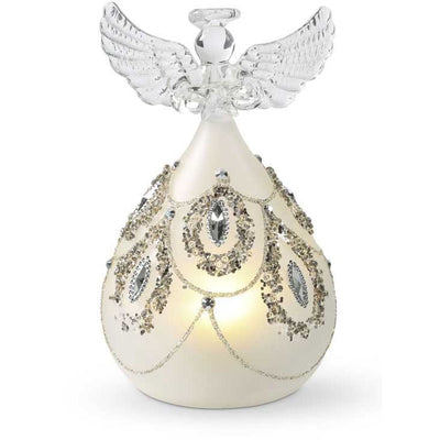 LED Angel w/ Silver Jewels 5""