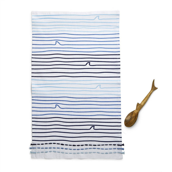 Great White Shark Dish Towel and Spoon