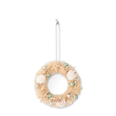 Bottble Brush Wreath Ornament - Opal and Olive