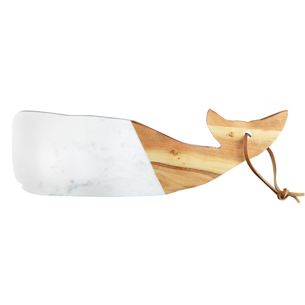 White Marble & Wood Whale Board