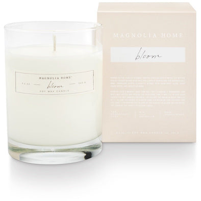 Boxed Glass Candle - Bloom - Opal and Olive