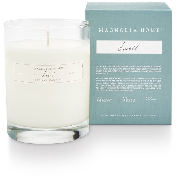 Boxed Glass Candle - Dwell - Opal and Olive