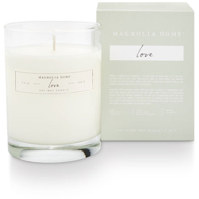 Boxed Glass Candle - Love - Opal and Olive