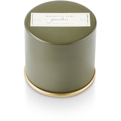 Demi Tin Candle - Garden - Opal and Olive