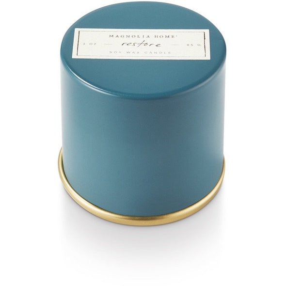 Demi Tin Candle - Restore - Opal and Olive