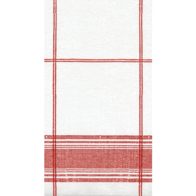 Belgian Linen Red - Guest Towels - 12 Pack - Opal and Olive
