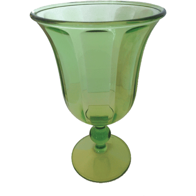 Acrylic Goblet - Emerald - Opal and Olive