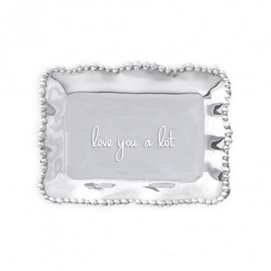Giftables Pearl Engraved Tray - Love You a Lot