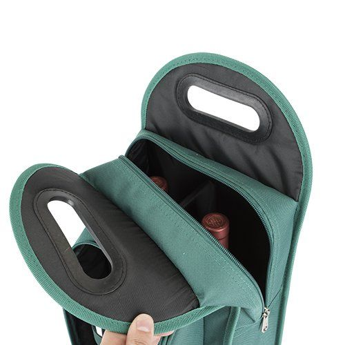 Metro Green 2-Bottle Wine Tote