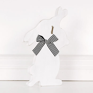 Black & White Bunny Wood Cutout