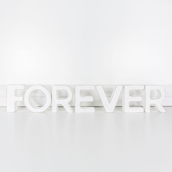 Wood Cutout (Forever) White