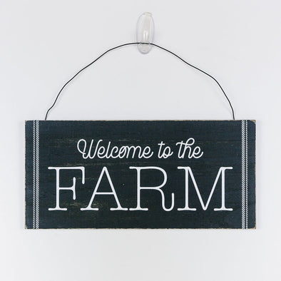 Wood Hanging Sign - Welcome to the Farm