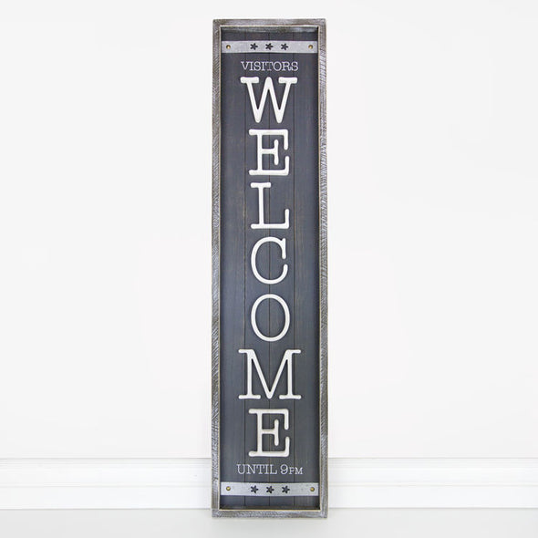 Wood Framed Shiplap Sign (Welcome)