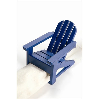 Napkin Ring Adirondack Chair - Blue