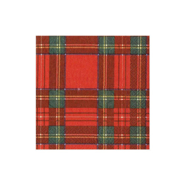 In this Design: Inspired by traditional Scottish tartan, this classic plaid pattern consists of bold red and green stripes with hints of yellow and navy.