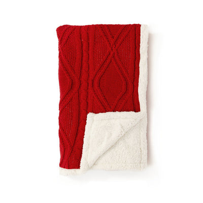 Red Fleece Throw Blanket 50x60