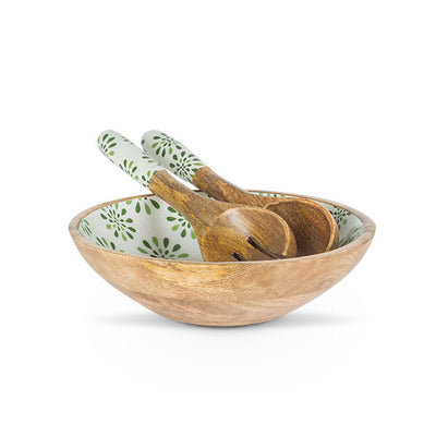 Green Olive Serving Bowl and Server - Opal and Olive