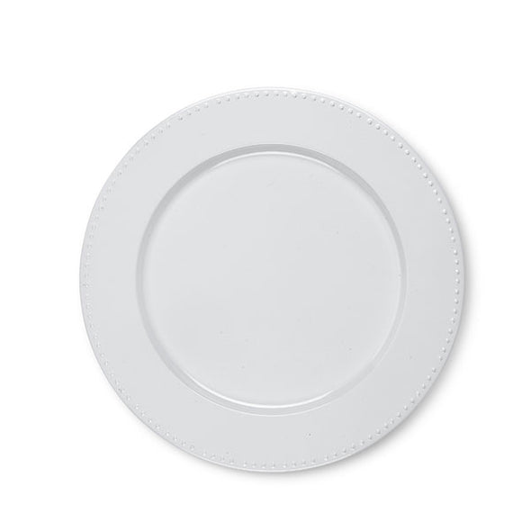 White Charger Plate