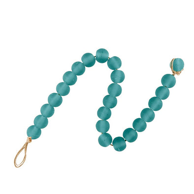 Teal Glass Decor Beads