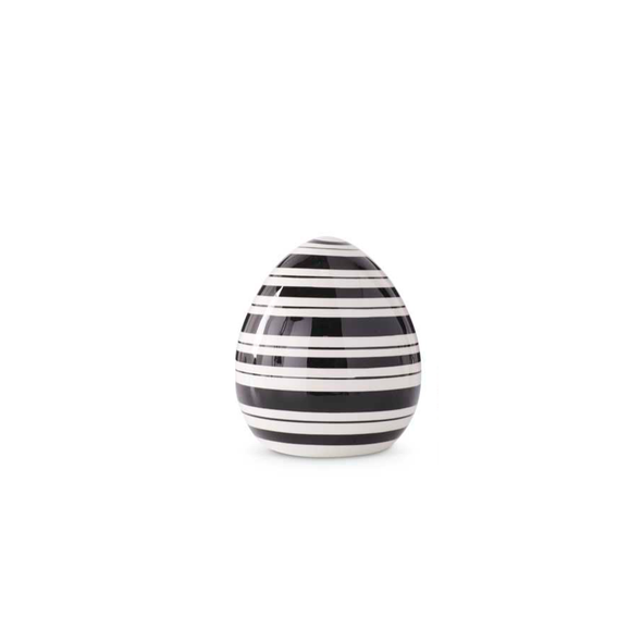 Black & White Striped Ceramic Tabletop Eggs
